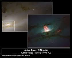 Galaxia activa vista por el telescopio espacial Hubble